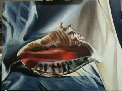 Conch,2012. Oil on canvas, 16 x 20.