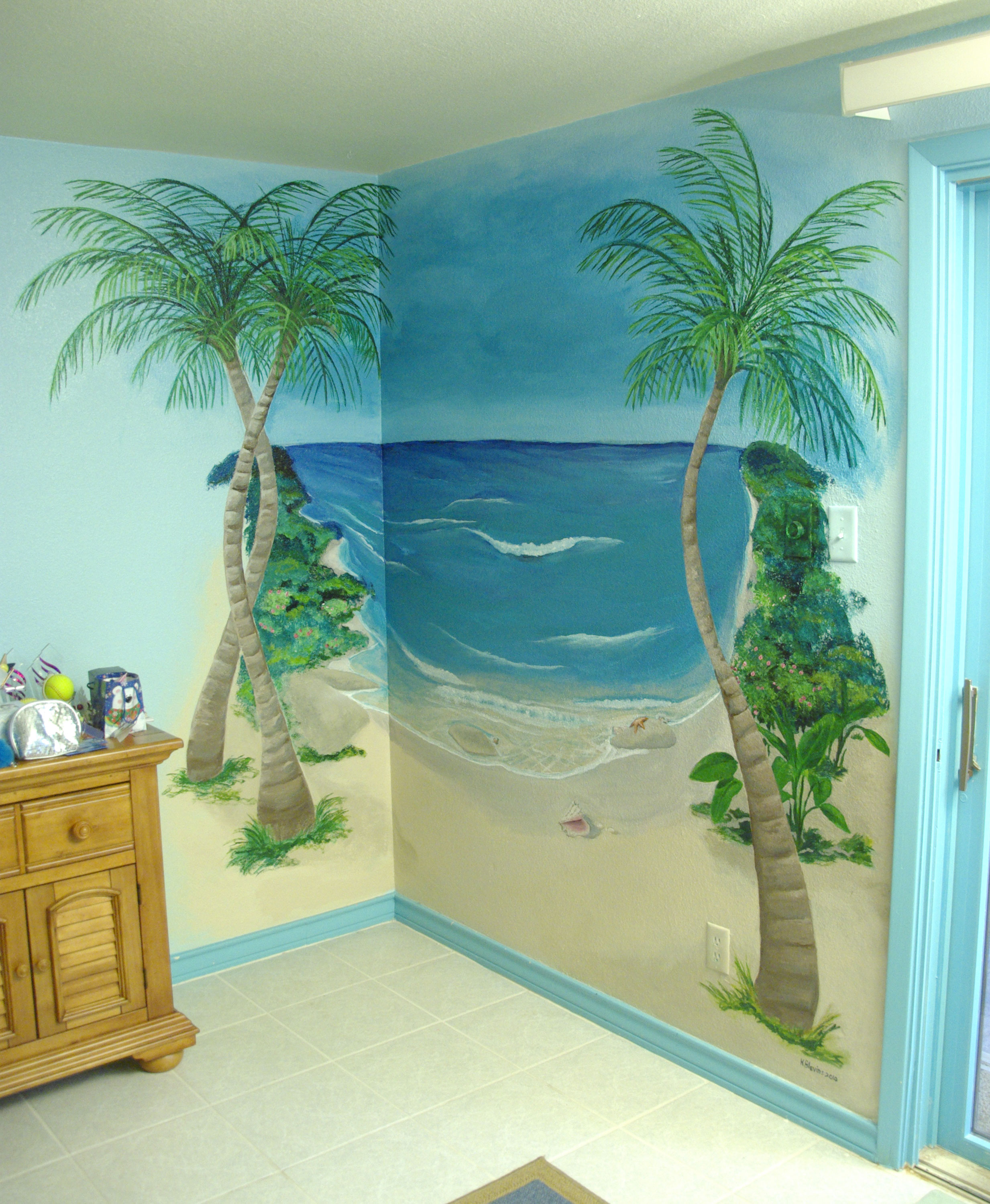 Murals kelly 39 s voice art for Beach mural painting