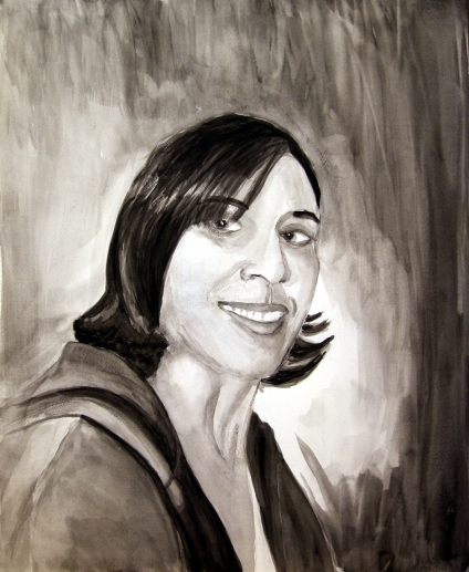 Self Portrait, Water Color on Paper, 2013