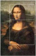 Using the golden mean ratio regarding the Mona Lisa,
